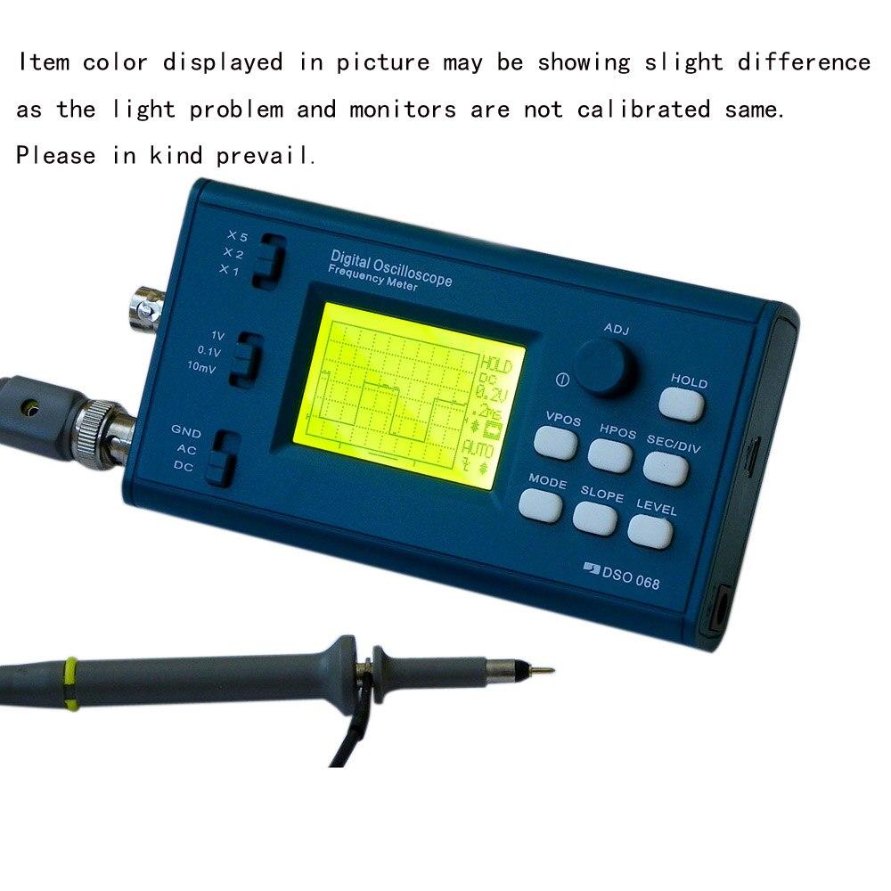 DSO 20MSa/s 3 мГц осциллограф ЖК-цифровой хранения частотомер Профессиональный BNC зонд USB интерфейс DIY осциллограф комплект