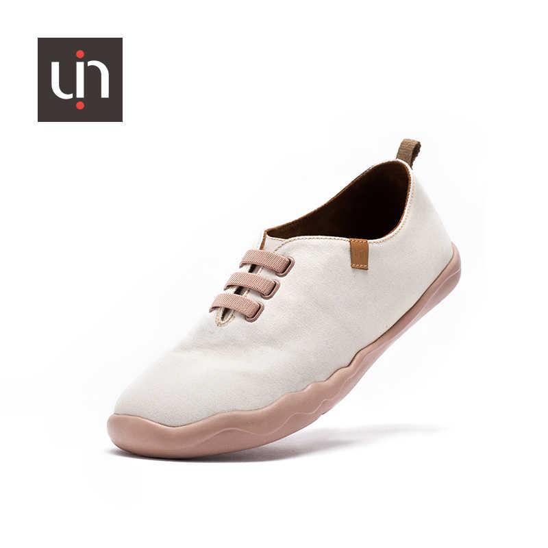 UIN Grécia Branco Lona Apartamentos Casuais Mulher/Homens Respirável Slip-on Sapatos Básicos Cor Sólida Unissex Sapatos Ao Ar Livre