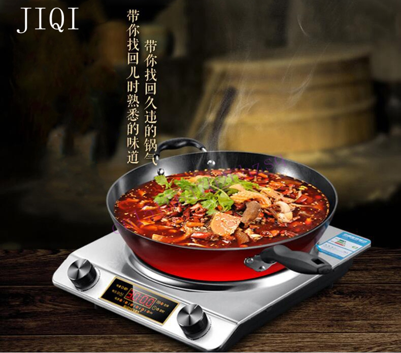 Concave electromagnetic oven  Induction Cooker fried high power stove household  commercial 3000W  Hot pot electric induction cooker waterproof high power concave type magnetic induction cooker intelligent mini hot pot stove eu plug