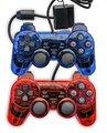 Vendas quentes com fio claro controlador game pad game controller gaming console joysticks joypad gamepad para playstation 2 ps2