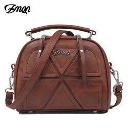 ZMQN женские сумки через плечо известный бренд 2018 г. винтажные Ретро Женская Сумка Small PU кожаные сумки для женщин Сращивание A523