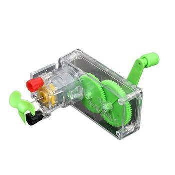 DIY Hand Crank DC Generator Model Fan Kit Science Experiment Education Kids Toy недорого