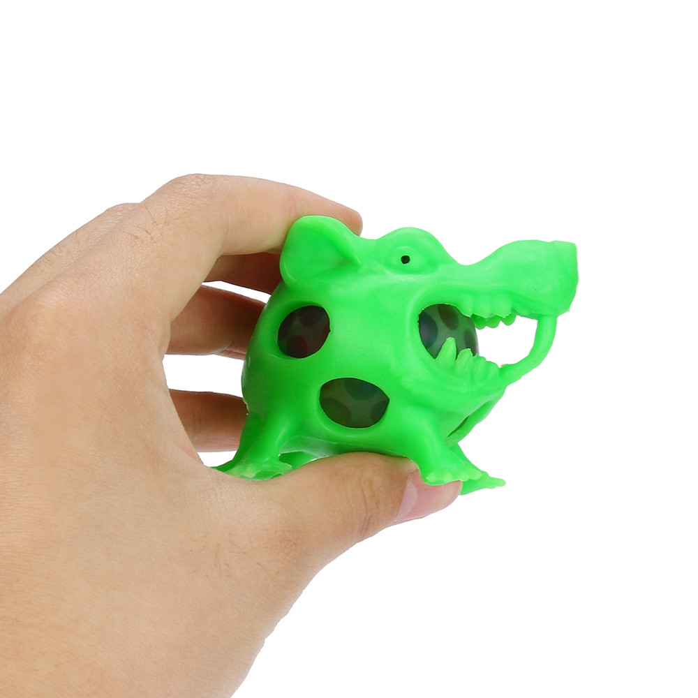 Mice Head Mesh Ball Stress Squeeze Anxiety Relief Stress Ball Grape Toys Anxiety Relief Stress Ball