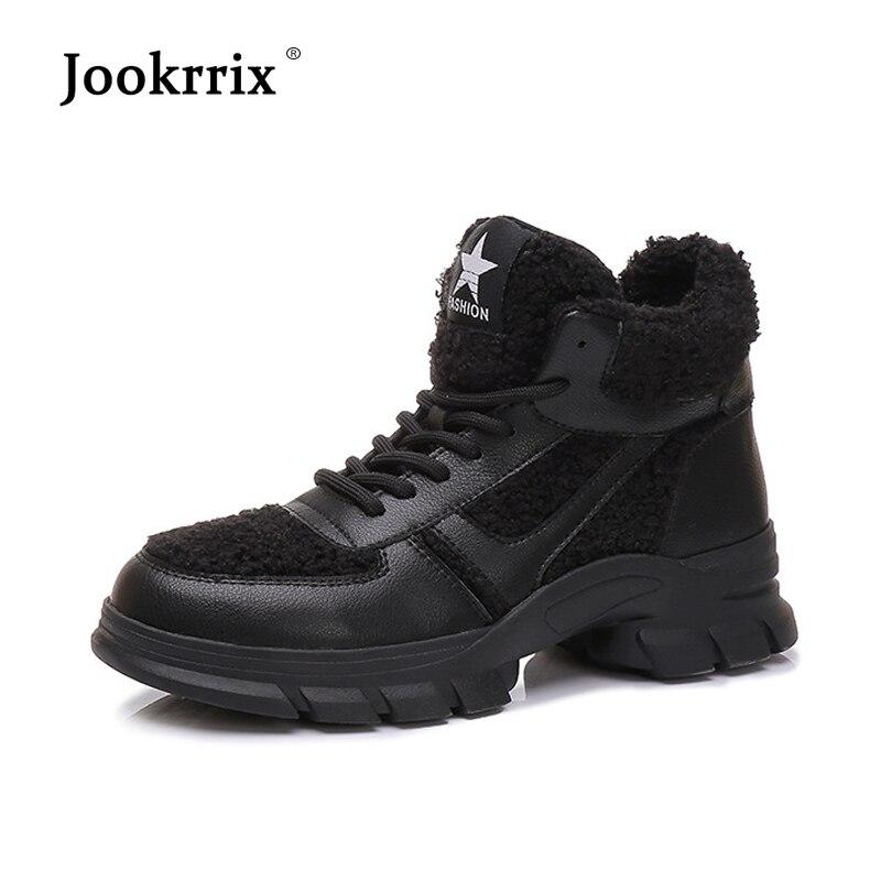Jookrrix повседневная женская обувь модные брендовые ботинки martin леди chaussure осень 2018 женская обувь с перекрестной шнуровкой с мехом универсаль...
