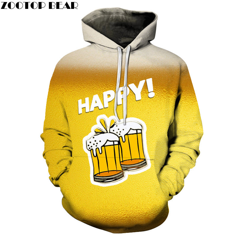 2019 NEW Hoodies Men Women beer stout Sweatshirt Brand Hooded 3d Pullover Casual Spring Tracksuits Novelty Drop Ship ZOOTOPBEAR