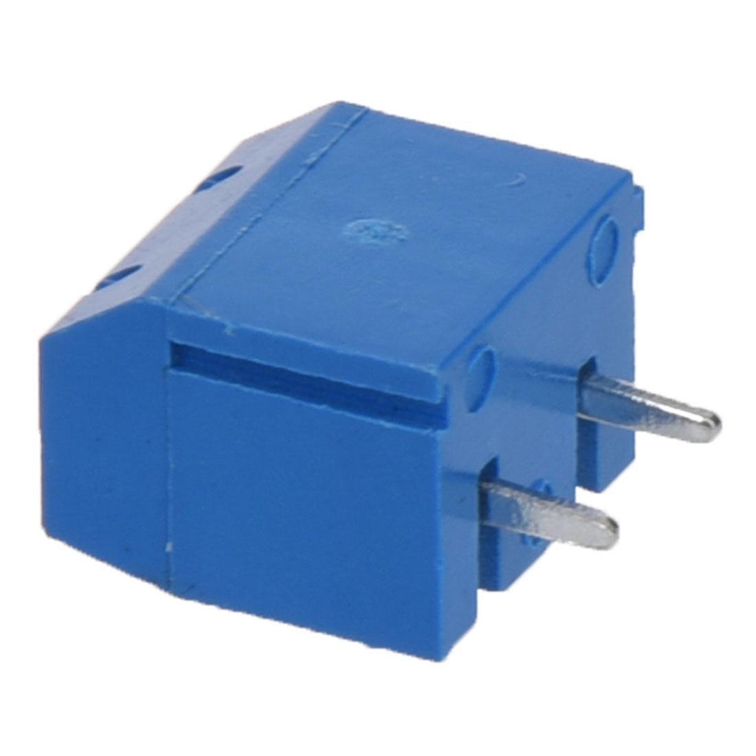 5 Pcs 2P 5mm Pitch PCB Screw Terminal Block Connector