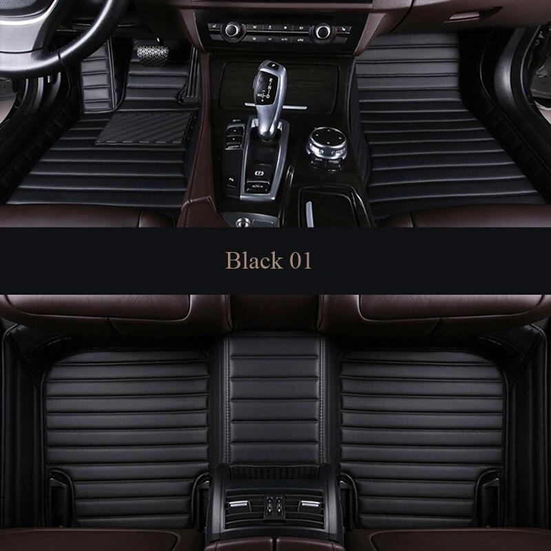 Personnalisé Auto voiture tapis de Pied Pour BMW f10 x5 e70 e53 x4 f11 x3 e83 x1 f48 e90 x6 e71 f34 e70 e30waterproof accessoires Intérieurs