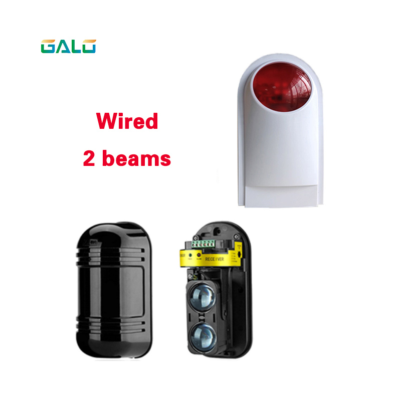 Photoelectric Beams Sensor Active Infrared Intrusion Detector IR Optional Outdoor Perimeter Wall Window Fence Alarm system