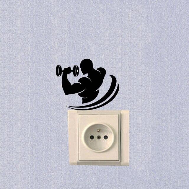 Vinyle Stickers Muraux Club de Remise En Forme Sport Symbole ...