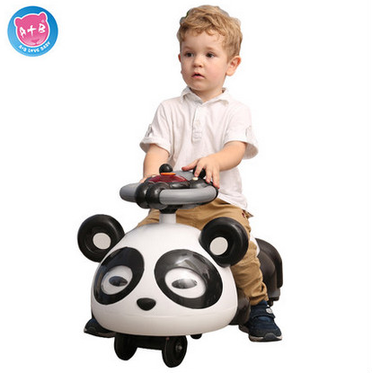 The new wheel mute children shilly car scooter yo car swing car with music baby walker the upgraded version of the six round meters blueprint baby swing car with light music four children skating factory direct driv