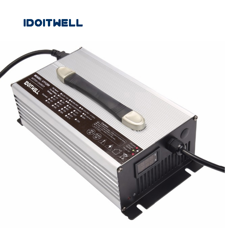 Customized 1500W series 12V 60A 24V 45A 36V 30A 48V 25A 60V 20A 72V 16A battery charger for Lead acid Lithium or LifePO4 battery 48v 25a high frequency lead acid battery charger negative pulse desulfation battery charger