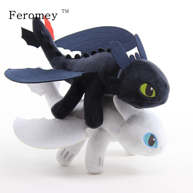 How To Train Your Dragon Plush Toys Night Fury Light Fury Dragon Plush Doll Toothless Dragon Action Figure Toys Children Gift