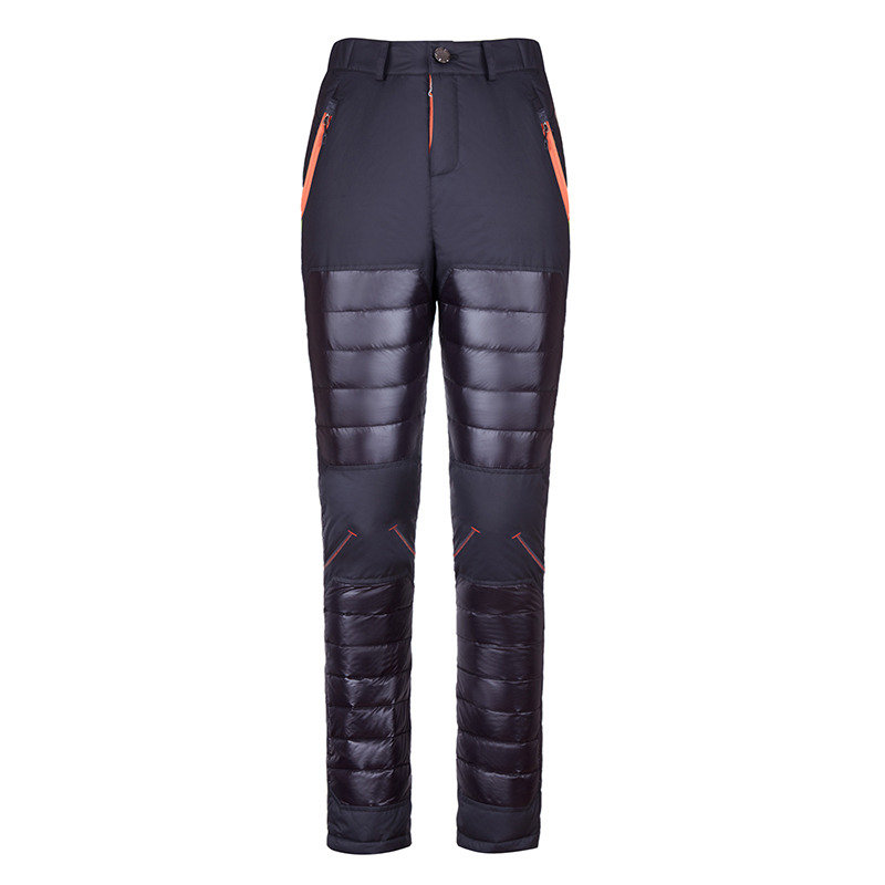 ФОТО Hot Sale Duck Down Winter Snow Sports Ski Pants Men Thermal Outdoor Snowboard Ultra-light Thick Trousers Skiing Pantalon Hombre