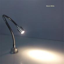 1 Вт/3 Вт Светодиодная гибкая трубка шкаф Точечный светильник, 85-265Vac светодиодный настенный светильник, светильник, 30 Вт, 40/50 см гибкими трубками светодиодная выставочная лампа