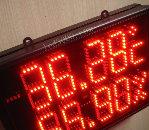 large size indoor temperature and humidity led display,led clock,led - Home Decor - Photo 5