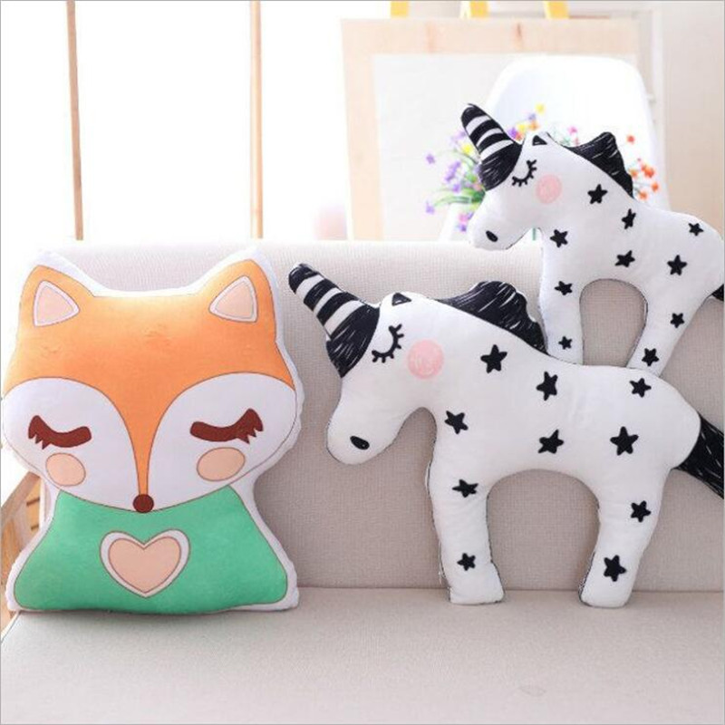 SUKIToy Fox Dolls Stuffed & Plush Toys Animals Christmas Decorations Home Gifts For Girls Boys Children The New Year Cushion ty collection beanie boos kids plush toys big eyes slick brown fox lovely children gifts kawaii stuffed animals dolls cute toys