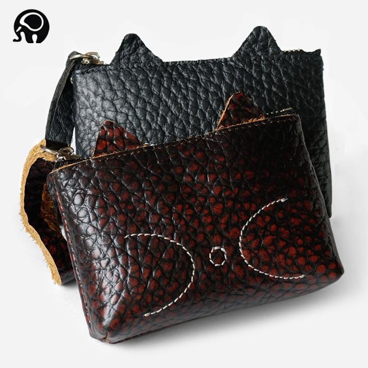 1PC Leather Coin Purse Women Small Change Wallet Mini Zipper Money Bags Portable
