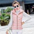 Barato al por mayor 2017 venta Caliente Del Otoño Invierno de la moda femenina abajo de algodón lindo diseño engrosamiento plus size slim chaleco Chaleco superior