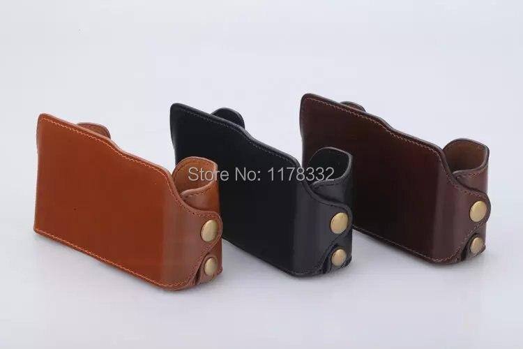 Leather Camera Case Bag Leather Half Camera Body Set Case Shoulder Strap for FujiFilm Fuji XM1 XA1 XA2 X-M1 X-A1 X-A2