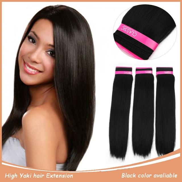 Noble Fashion Classic Perm Yaki Style Synthetic Hair Weaving Bundles
