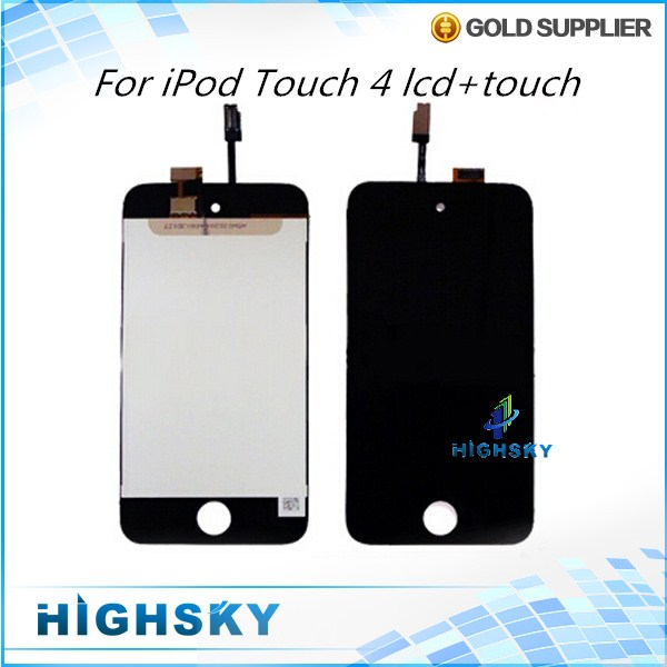 1 Piece Free Shipping 3.5 Inch Black New Test For Apple iPod Touch 4 4th LCD Screen With Touch Digitizer Complete