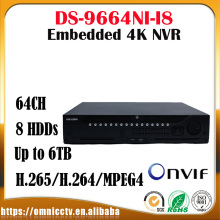 Hikvision Embedded 4K CCTV NVR DS-9664NI-I8 64CH 12MP HDMI Output H.265 8SATA HDD Alarm Surveillance Network Video Recorder