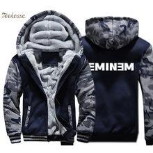 350ac87a Куртка Sitcoms Eminem аптечка Мужская брендовая толстовка с капюшоном  пальто с буквенным принтом Зимняя Толстая Флисовая