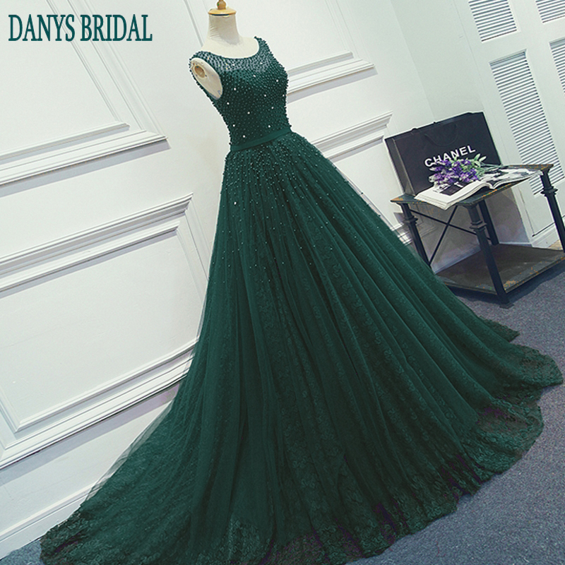 Crvena ili zelena Duga večernja haljina Party Beaded biseri Luksuzni - Haljina za posebne prigode - Foto 2