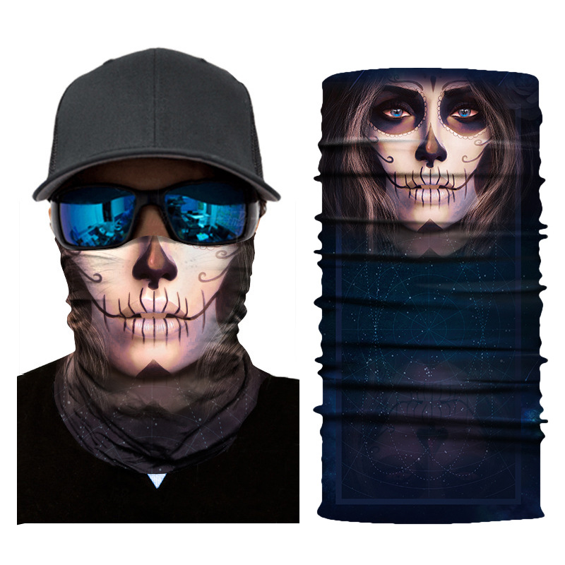 3d Bandana Cycling Magic Bandana Scarf Skull Hiking Neck Warmer Face Mask Head Shield Headband Headwear Men Bicycle Fishing Apparel Accessories