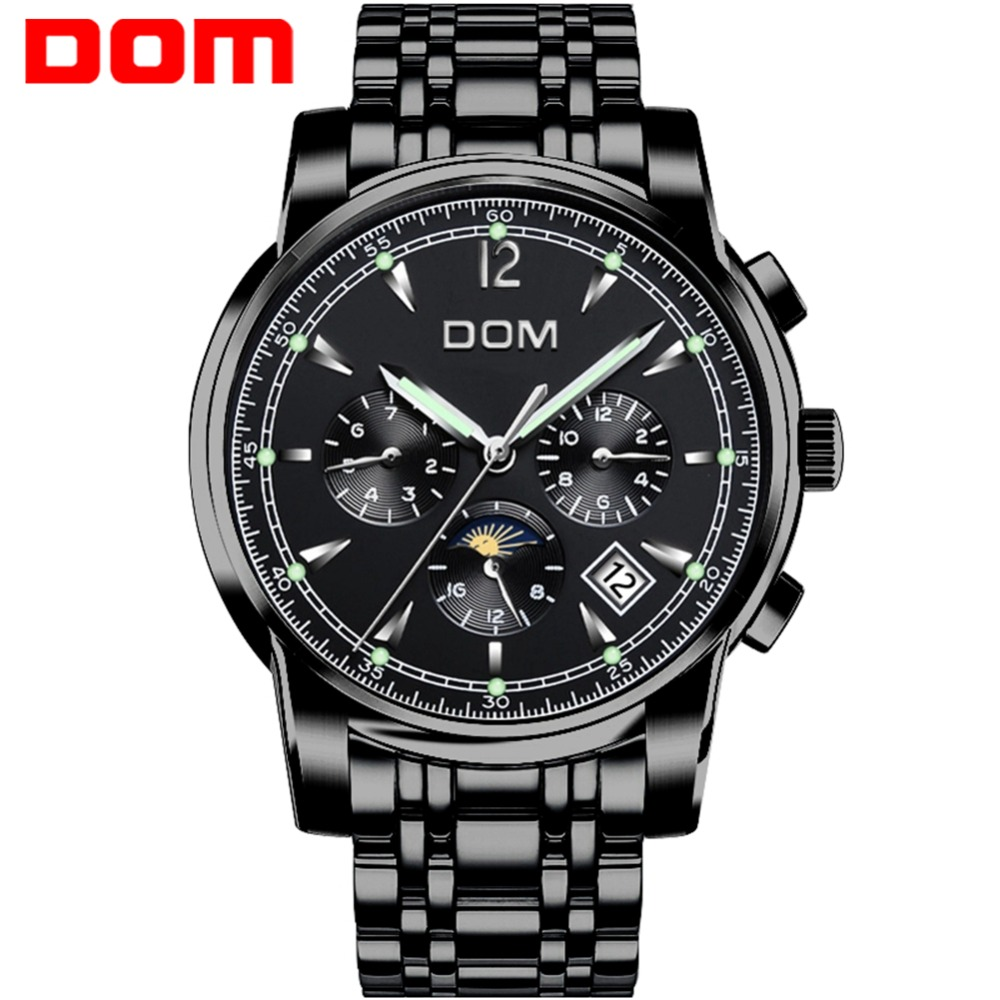 Mechanical Watches Sport DOM Watch Men Waterproof Clock Mens Brand Luxury Fashion Wristwatch Relogio Masculino M-75BK-1MX mechanical watches sport dom watch men waterproof clock mens brand luxury fashion wristwatch relogio masculino m 75l 2m