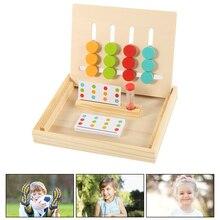 Раннее образование Монтессори математические игрушки цвет соответствия Дети Ясельного возраста деревянные игрушки 4 сочетание цветов обучение мышление ориентация игрушки
