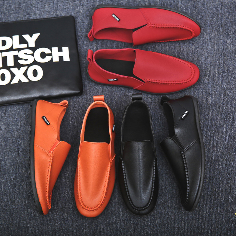 Men Shoes Leather Loafers Casual Shoes Men Flats Moccasins Soft Slip On For Men Loafers Driving Shoes Male Horsebit Loafer Men