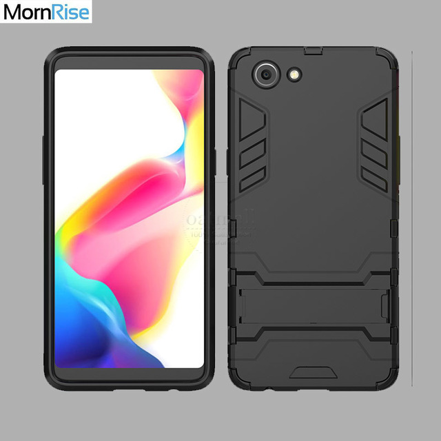 size 40 61d0c 42ca7 US $2.87 36% OFF|For OPPO Realme 1 Case PC TPU Kick Stand Back Cover For  Realme 1 Cases Dual Layer Rugged Hybrid Armor Resistant Mobile Phone Bag-in  ...