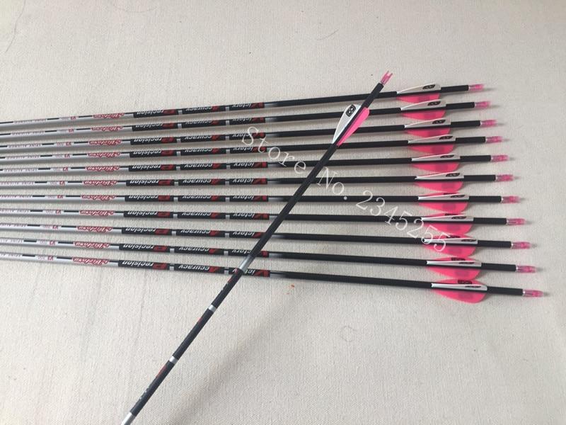 12pcs 100% pure carbon arrow sp400/600/700/800/900 ID4.2mm 1.75