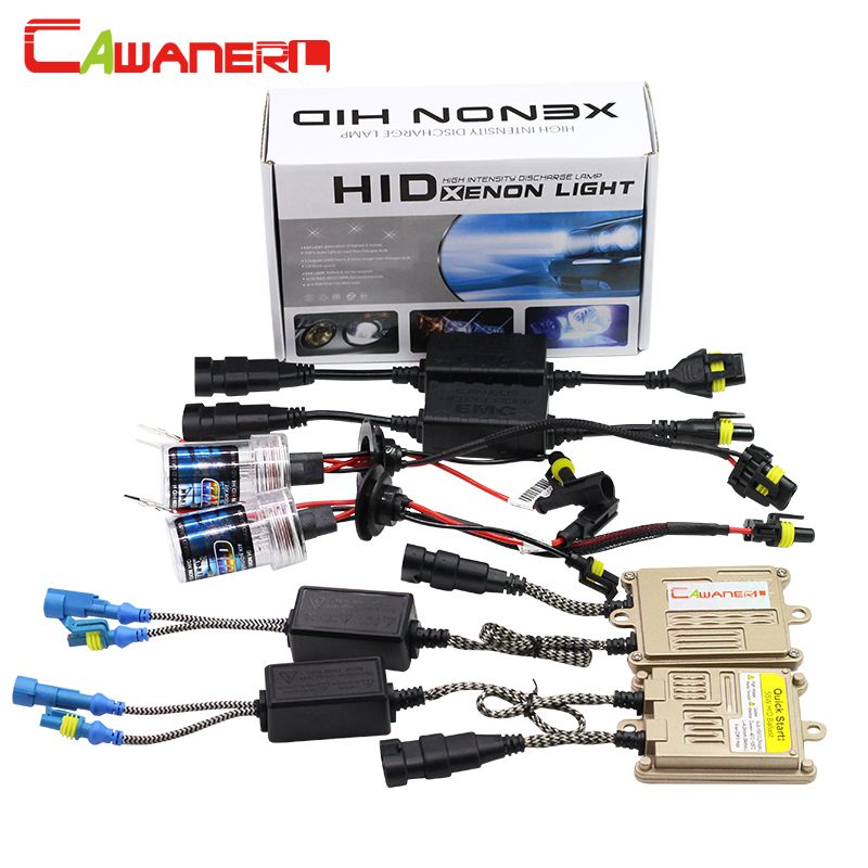 Cawanerl 55W H1 H3 H7 H8 H9 H11 9005 9006 880 881 HID Xenon Kit 10000K AC Ballast Lamp Canbus Decoder Anti Flicker Car Headlight buildreamen2 55w 9005 9006 h1 h3 h7 h8 h9 h11 880 881 hid xenon kit ac ballast bulb 10000k blue car headlight lamp fog light