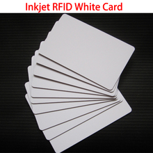 100 Pcs/lot Glossy Inkjet RFID TK4100 Chip Cards Printable PVC ID Card For Epson Canton Printer Access Control Security Cards