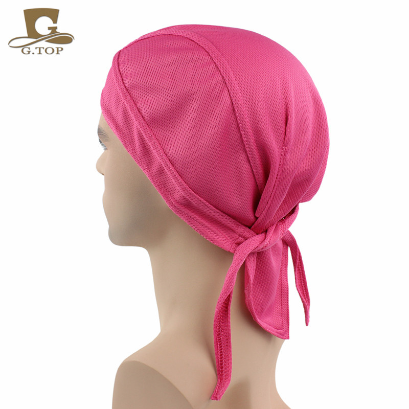 8014c86177 NEW BANDANA DOO RAG breathable mesh Do Du rag Unisex Fitted Solid Tied head  wrap Motorcycle Skull Cap Men-in Skullies   Beanies from Apparel  Accessories on ...