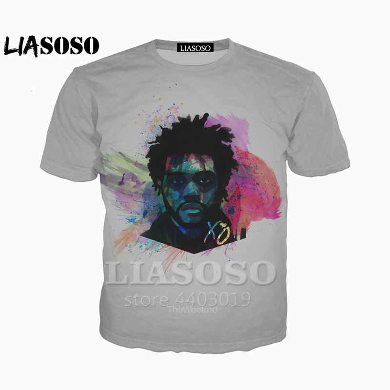 Tops & Tees Liasoso New 3d Print Men/women Rapper The Weeknd T-shirt Casual Hip Hop Short Sleeve T Shirt/hoodie/sweatshirt Unisex A047-22 Men's Clothing