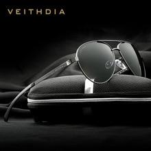 VEITHDIA Fashion Brand Designer Aluminum Magnesium Men's Sun Glasses Polarzed Mirror lens Male Eyewear Sunglasses For Men 3801