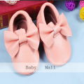 Genuine Leather Baby Moccasins New19 colors fringe soft Baby girl bow shoes First Walker Chaussure newborn shoes boys footwear