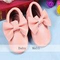 Genuino de bebé de cuero New19 colores fringe suave arco zapatos del bebé primero Chaussure Walker zapatos recién nacidos niños calzado