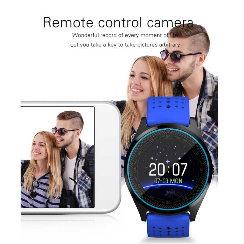 Lykl Smart Watch V9 Mendukung Kartu SIM Kamera Jarak Jauh Smartwatch Pedometer Tidur Kebugaran Tracker Smart Jam Tangan untuk Android IOS