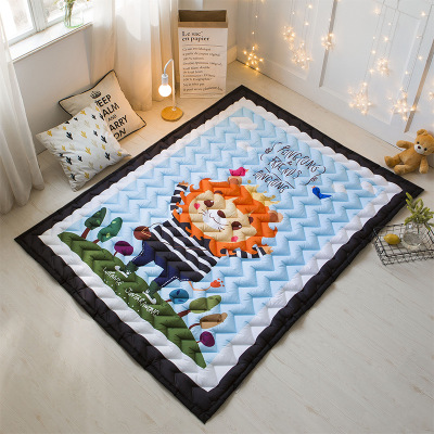 Svetanya Cartoon Sika deer Print Kids Floor Carpet Rectangle Bedroon Rug baby Crawling Mats 57x76x0.6