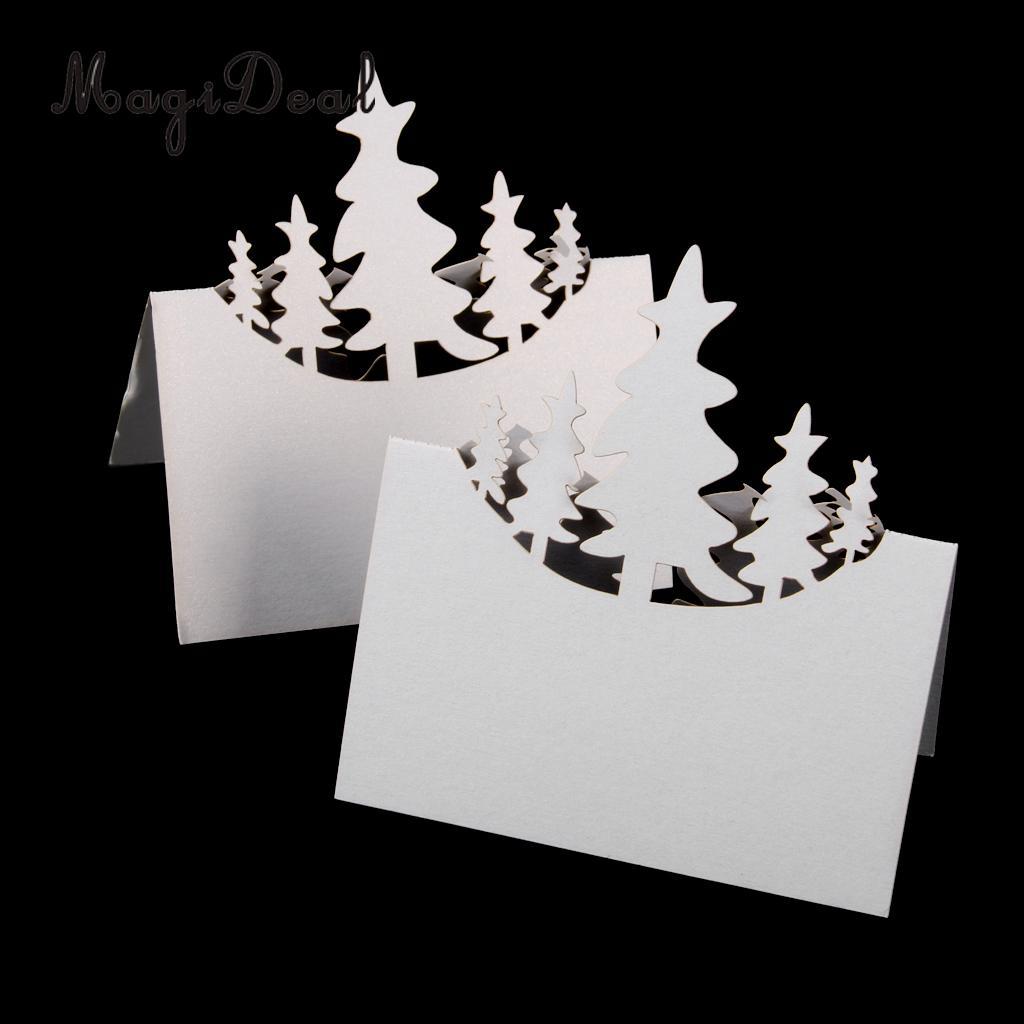 MagiDeal нежный 50 шт. рождественской елки с рассадочная карточка имя номер Свадебный декор