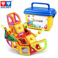 AULDEY Super Wings 200pcs Magnetic Blocks Learning & Education Building & Construction Toy Spatial Mathematics Gift for Kids