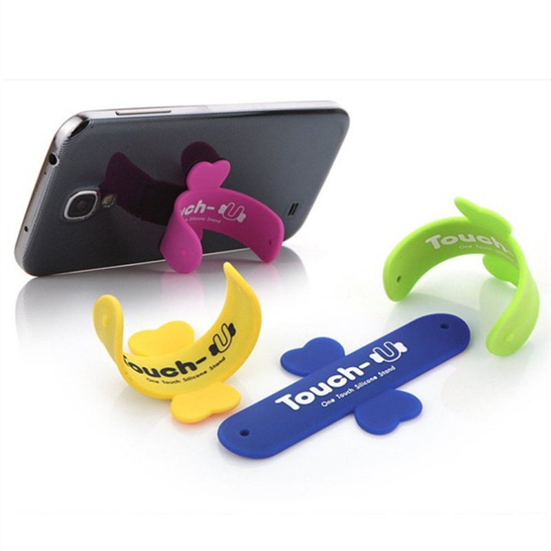 10 Teile/los Mini Touch U One Touch Silikon-standplatz Finger Ringe Universal tragbare...