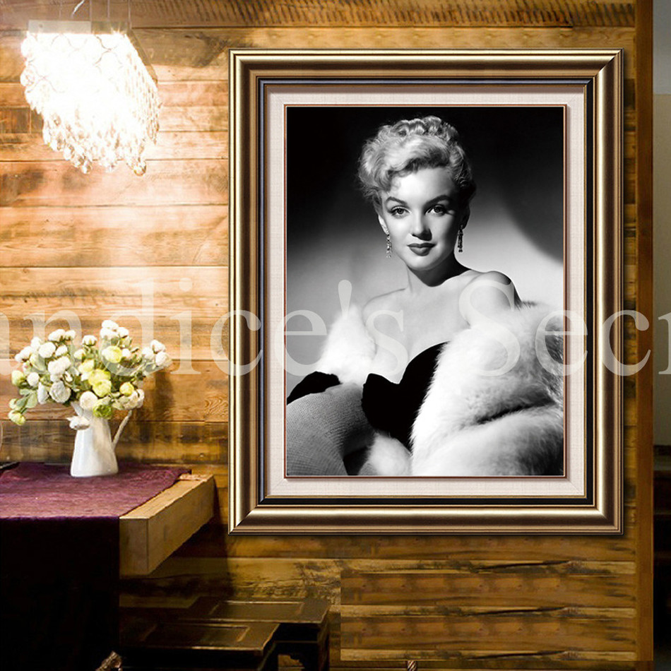 Marilyn Monroe DIY Diamond Painting Cross Stitch Wall Sticker 3D Diamond Embroidery Square Crystal Mosaic Pictures Stickers