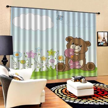 Blackout curtain Luxury Blackout 3D Window Curtains For Living Room Bedroom cartoon curtains for children room