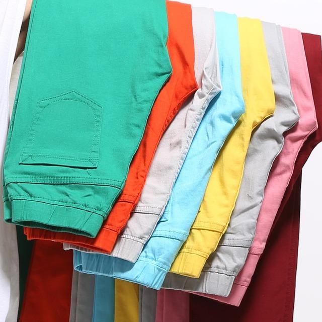 2017 Otoño pantalones vaqueros de cintura alta de las mujeres Ocasionales Del Color Del Caramelo Más El Tamaño Legging Lápiz Pantalones Flacos de Los Pantalones vaqueros para Las Mujeres 6XL
