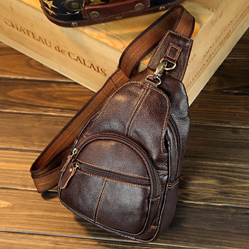 Genuine Leather Cowhide Messenger Chest Day Pack Men Famous Brand Cross Body Single Bags Back Male Vintage Sling Shoulder Bag geeetech cyclops 2 in 1 out hotend multi extrusion ecosystem colors bowden extruder 0 4mm nozzle for 1 75mm filament